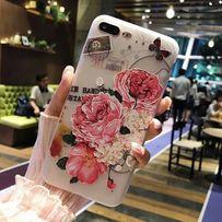 Чехол силиконовый с цветами Iphone 6 6+ 7 7+ 8 8+ Х XS опт