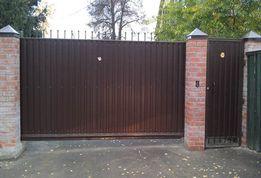 Ворота кованые, заборы из профнастила перила, решотки на окна,