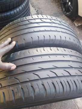 215/55/18. Two continental tyres available for sale