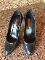 Элегантные туфли, высокий каблук, кожа натуральная