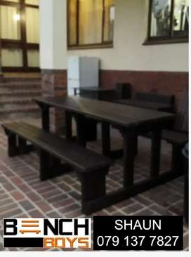 Car wash, braai,pub, restaurant and canteen benches