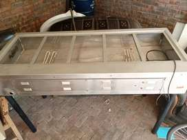 5 division Bain marie food warmer hostess industrial