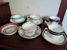 Assorted Antique China Tea Cups and Saucers