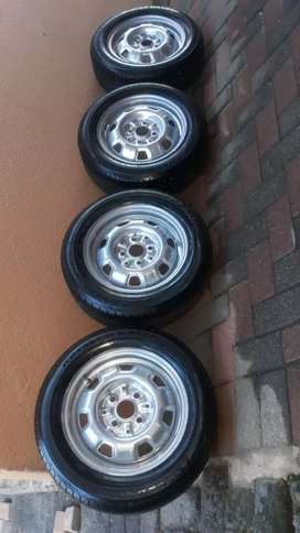 Toyota Tazz 13inch steelies with new tyres