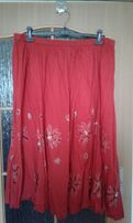 Spódnica R52 czerwona bawełna
