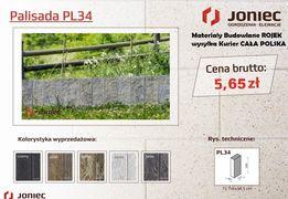 Palisada betonowa łupana Joniec STONE Mogielica PL34 Wysyłka Kurier