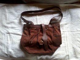 Okazja zamszowa torba damska Made in Italy