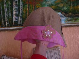 Шапочка на завязках вельвет Дембо Лара Dembo 50 р-р очень модная
