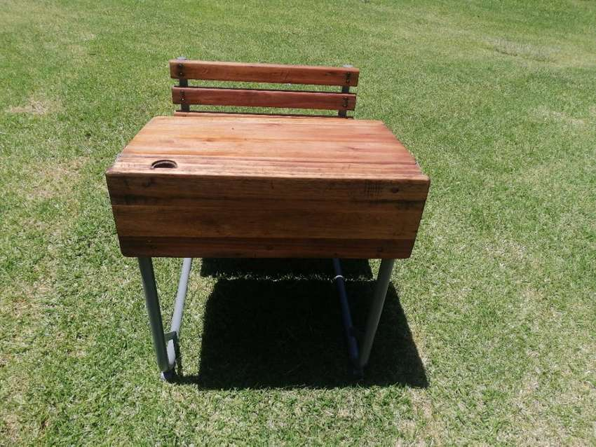 Antique school desk and for sale 0