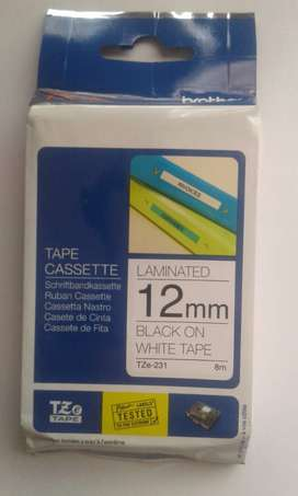 Brother P-Touch TZ-231 Labeling Tape 12mm Black on White