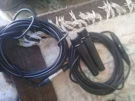 2 Shure SM57 Dynamic Microphones With 2 x 10m Cables