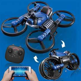 2-in-1 Wifi Camera H6 Motorcycle Folding RC Drone