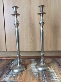 Image of silver candlesticks