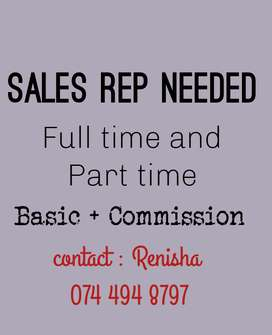 Sales men needed