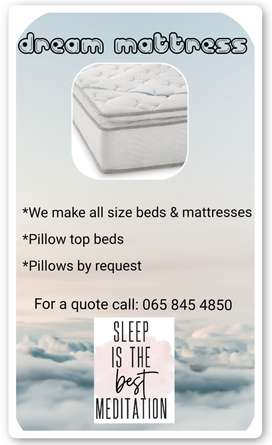 Beds, mattresses and pillows for sale