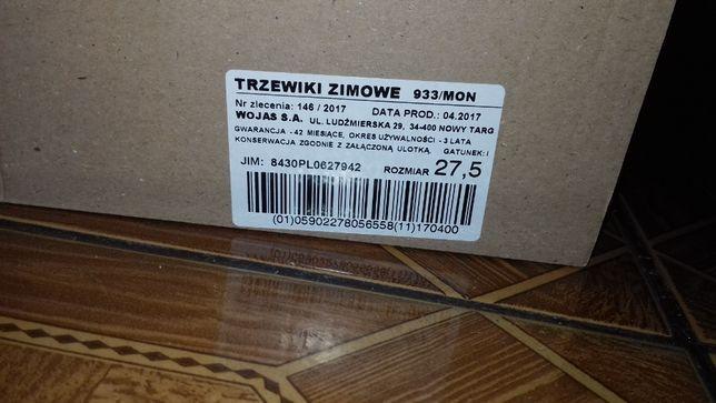 Buty wojskowe, trzewiki zimowe wzór 933, roz. 27.5 Budachów - image 1