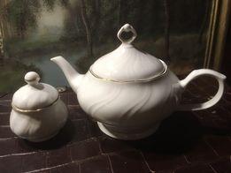 Porcelana Książ czajnik do herbaty i cukiernica
