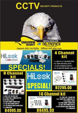 Hilook by hikvision CCTV camera kits.