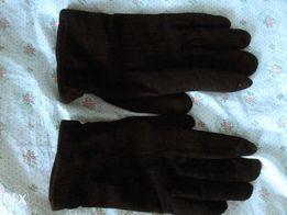 Мужские черные замшевые перчатки.Шерстян.подкладка.Времен ссср,винтаж