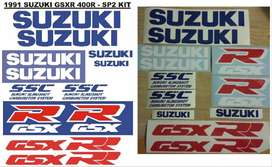 Graphics decals / vinyl cut stickers for a 1991 Suzuki GSXR 400 SP2