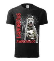 Koszulka Dangerous American Dog ostry jak pit bull prosto od Kortispor