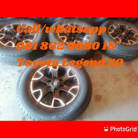 """Stunning set of 18"""" Toyota Legend 50 mags and tyres"""