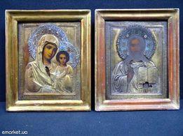 иконы венчальная пара серебро эмаль