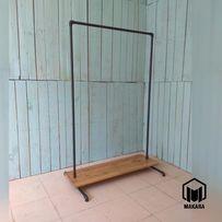 №26 loft вешалка из труб лофт стойка для одежды напольная