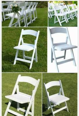 Bargain foldable Wimbledon and plastic folding chairs