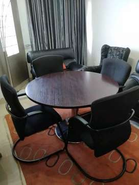 Executive boardroom table and chairs for sale