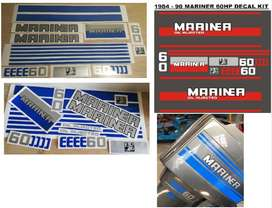1984 Mariner 60 Stickers decals graphics kit