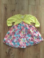 Komplet Cool Club 80 cm SMYK sukienka + bolerko Święta wiosna okazja