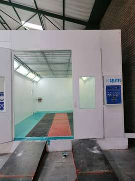 We do install spray booth and all other panel beaters equipment
