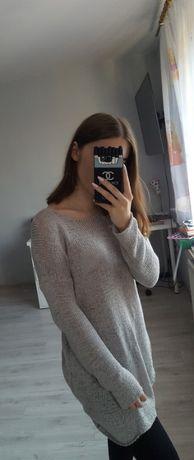 Asymentryczny szary sweter oversize H&M Białe Błota - image 3