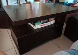 Coffee table with storage box seats