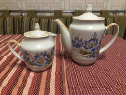 Чайник заварник, кувшинчик для сливок