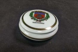 Винтажная французская шкатулка фарфоровая круглая 50-60е годы