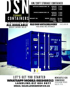 6m/20ft storage container.