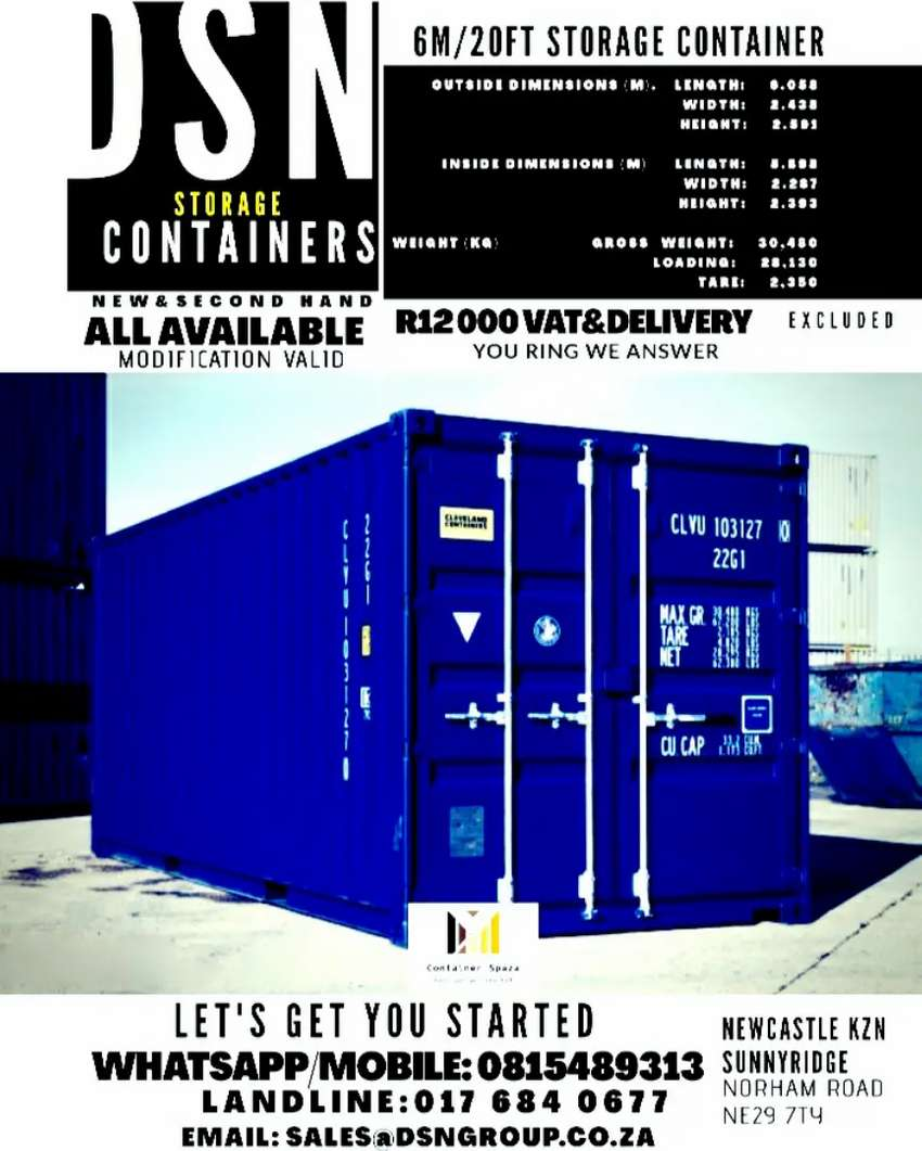 6m/20ft storage container. 0
