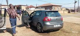 Golf 5 GTI shell with damaged 3.2 engine