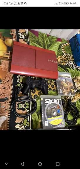 Playstation 3 limited edition superslim 500gig console with games
