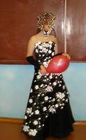 Выпускное, нарядное, красивое черно-белое платье