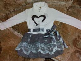Платье нарядное, теплое р.98-104