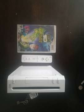 Wii console and controller
