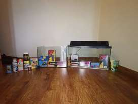2× FISH TANKS (WITH ACCESSORIES)
