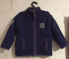 Шерстяная кофта-куртка для ребёнка