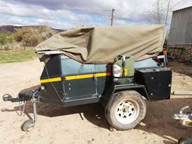 4 X 4 CAMPTRAILER WITH ROOFTOP TENT AND COVERING TENT