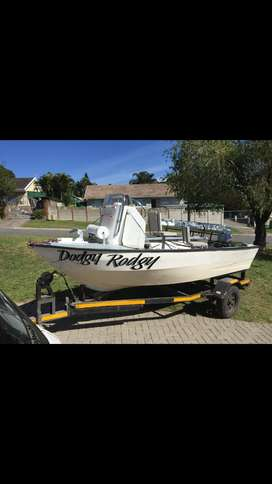 4m river boat 25hp yamaha with trailer