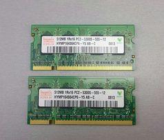 Модуль оперативной памяти DDR2 SO-Dimm 1Гб (2 по 512) PC2-5300S 667MHz