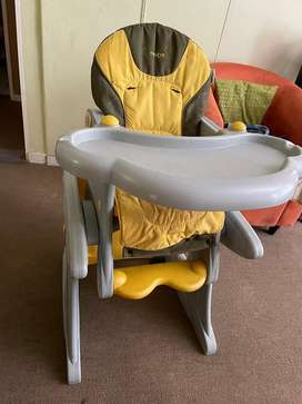 2 in 1 high chair and Study table